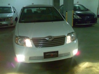 2005 COROLLA X,1500CC, WHITE, ALL POWER, CD, ALLOY