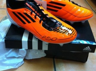 ADIDAS F50 WARNING ORANGE BLACK WHITE