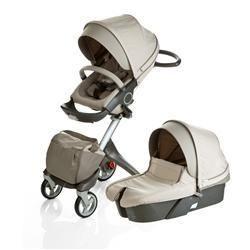 Stokke LLC Xplory Newborn Stroller Carry Cot Beige | ClickBD large image 0