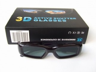 3D GLASS POLARIZED LENSE.FOR REAL 3D COLOR LCD LED