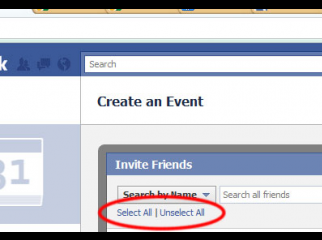 Invite all your Facebook friends in ONE CLICK