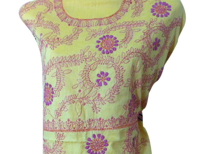 Yellow Cotton Salwar kameez | ClickBD large image 0