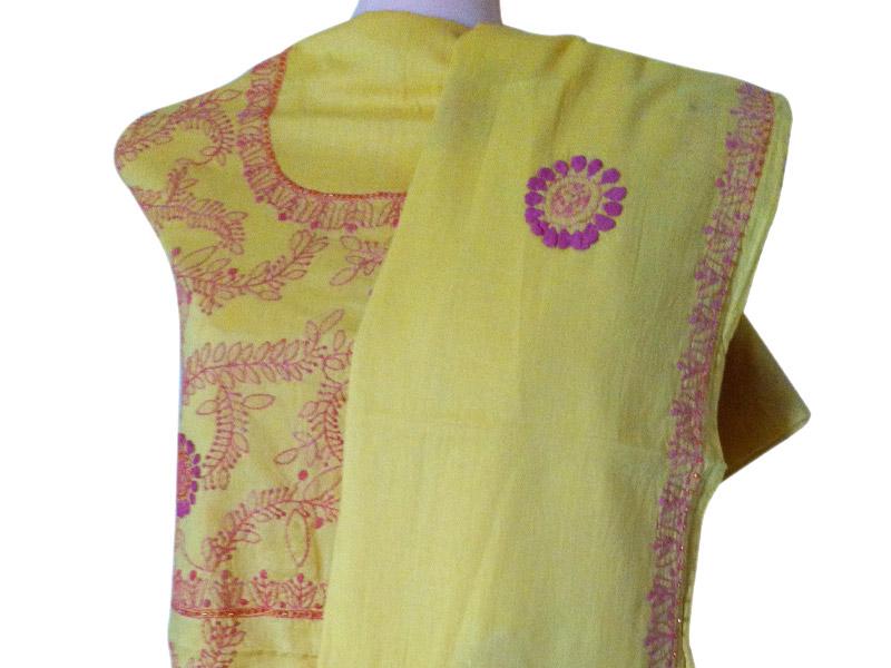 Yellow Cotton Salwar kameez | ClickBD large image 1