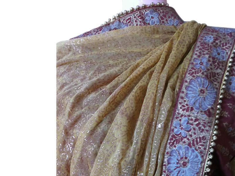 Block Silk kameez for Baishakhi | ClickBD large image 0