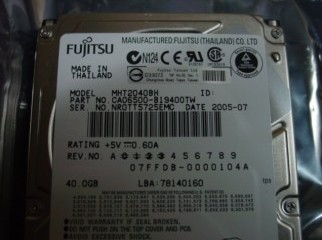 40 GB ID 2.5 Laptop HDD