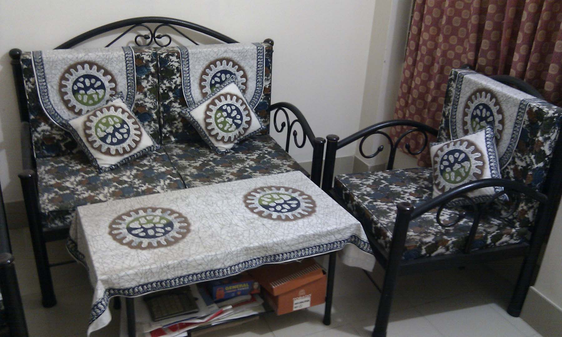 Steel Sofa 2 Seater 1 1 Seater 2 And Table 1 Clickbd