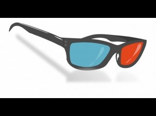 Red Blue 3D Dimensional 3 D Glasses