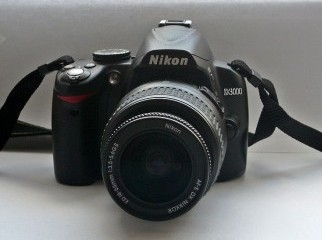 Nikon D3000 With Kit Lens With UV Filters