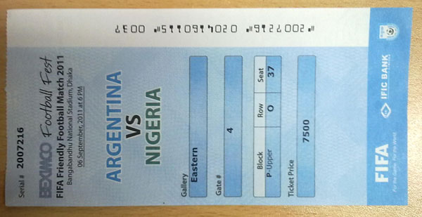 ARGENTINA vs NIGERIA FIFA Friendly Football Match- Ticket | ClickBD large image 0
