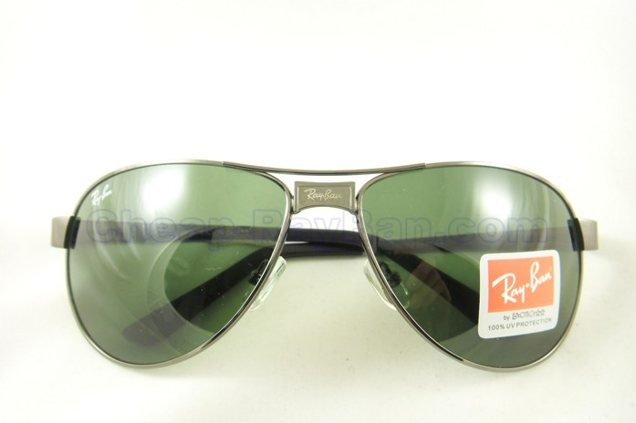 Ray Ben Sunglasses Grey Frame with Green Lens | ClickBD large image 0