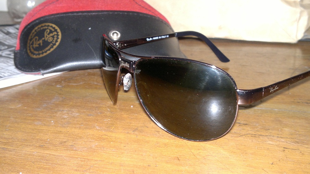 Ray Ben Sunglasses Grey Frame with Green Lens | ClickBD large image 1