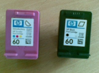 HP 60 cartridge black color