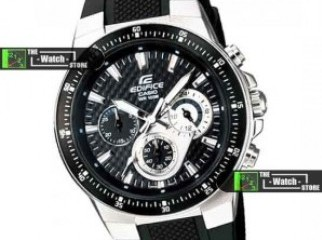 Casio Watch Edifice Black Sport Stopwatch EF-552