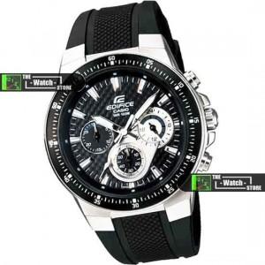 Casio Watch Edifice Black Sport Stopwatch EF-552 | ClickBD large image 0