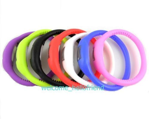 Silicone Rubber Jelly Ion Sports Bracelet Wrist Watch | ClickBD large image 0