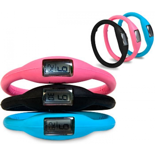 Silicone Rubber Jelly Ion Sports Bracelet Wrist Watch | ClickBD large image 1