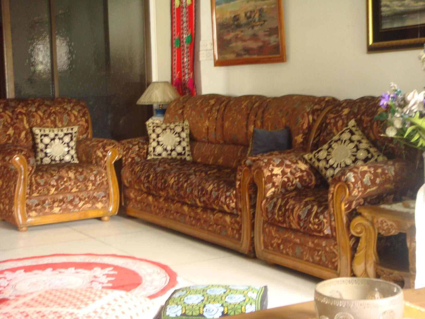Sofa Set Shagoon Wood  | ClickBD large image 0