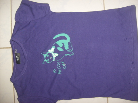 Stock Lot item of Pretty Cat Kids T-Shirt. | ClickBD large image 1
