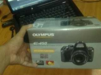 Olympus E-450 Digital SLR Camera With 14-42mm Lens All acs
