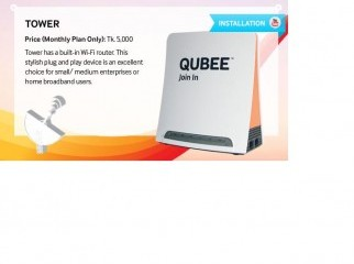 Qubee post paid modem with built in router