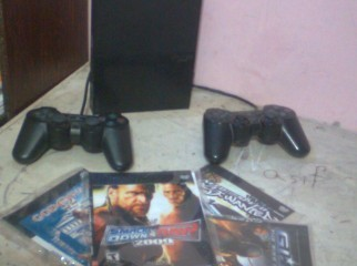 PS2 with 10 games and 1wireless controller