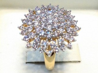 EXCLUSSIVE DESIGNERS LADIES DIAMOND RING FORM TURKEY RARE