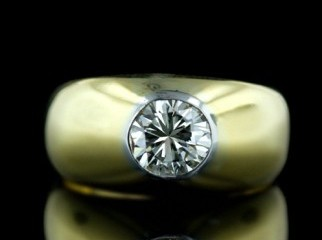 DIAMOND RING FOR MEN IN 18K GOLD from BELJIUM very RARE