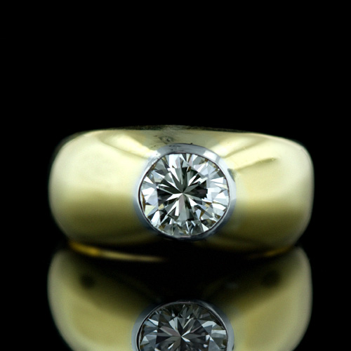 DIAMOND RING FOR MEN IN 18K GOLD from BELJIUM very RARE  | ClickBD large image 0