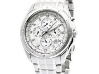 Casio EF328D-7A Men s Watch - Stainless Steel Edifice White