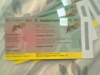 BPL T20 10th Feb Match Tickets Gallery