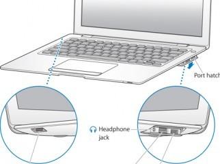 MacBook Air with MacBook Air SuperDrive