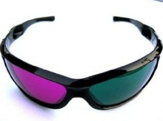 Pair Red Green 3D Dimensional 3D Glasses DVD Movie Game