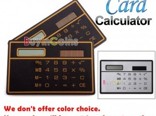 Mini Slim Credit Card Solar Power Pocket Calculator | Tk. 500