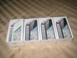 Factory sealed iPhone 4S 16GB with 1 Year Warranty.
