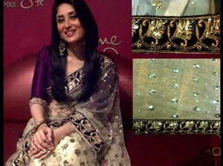 Kareena s exclusive off white saree
