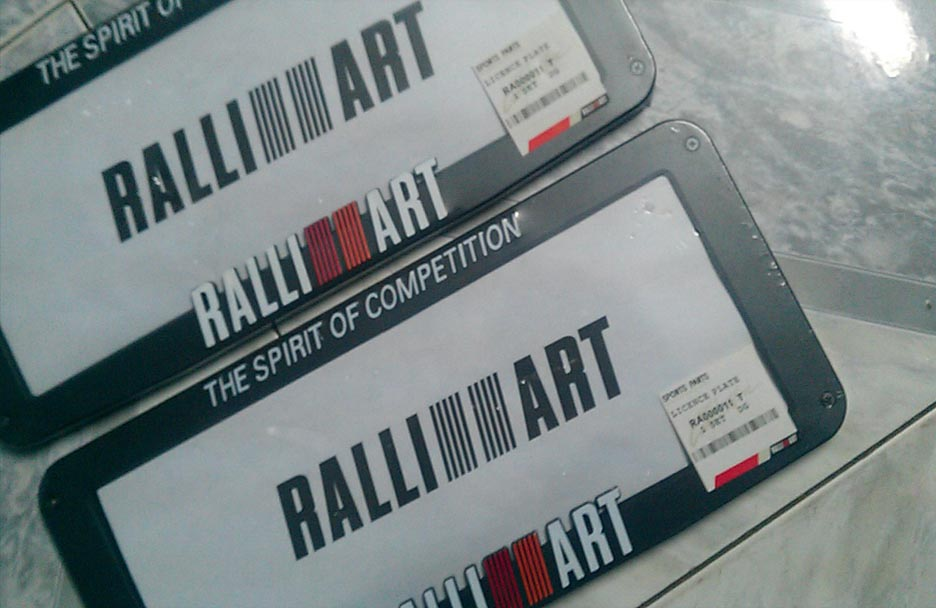 RalliArt Number Plate Frame | ClickBD