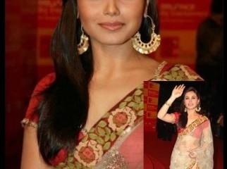 Rani mukharjee s exclusive saree