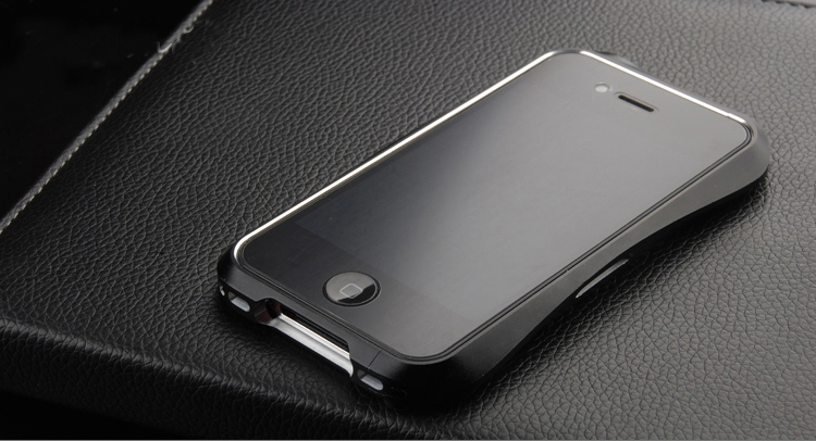 DEFF JAPAN BALCK METAL ALU BUMPER CASE For iPhone 4 4s | ClickBD large image 0