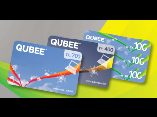 Qubee Prepay 600tk card for 500 tk