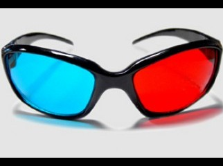 3D glass red-cyan with lots of HQ movies clips software