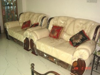 Exclusive lather type sofa set one months use only