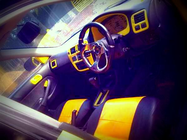 Honda Civic1999 Combination of sporty yellow black full a | ClickBD large image 1