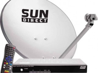 sun direct set top box with english entertainment pack