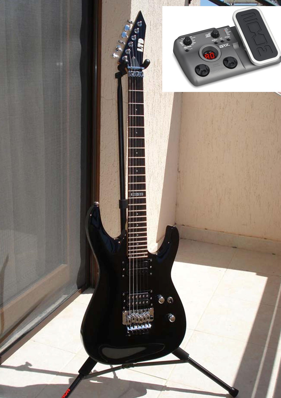 esp ltd mh 50 guitar with zoom g1x processor for sale clickbd. Black Bedroom Furniture Sets. Home Design Ideas