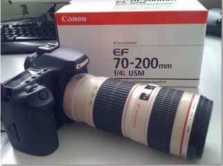 CANON Lens L series 70-200mm Telezoom f-4 fixed with IS