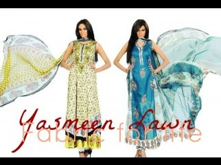 Yasmeen Couture Pakistani Lawn Fabric High Quality Fabri