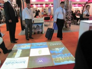 Interactive Virtual floor branding
