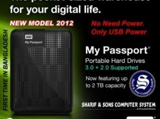 2TB WD MY PASSPORT 2.5 USB 3.0 Hard Drive