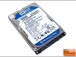 New 500GB Western Digital Scorpio Blue Laptop Hard Disk