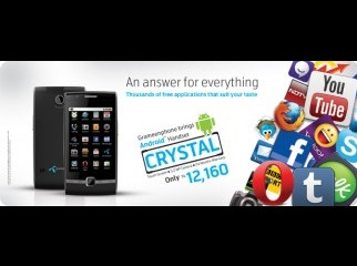 Grameenphone Crystal with Android 2.2.2 Froyo with warrenty